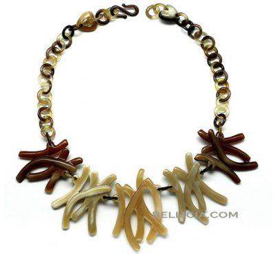 Prachtige buffelhoorn halsketting