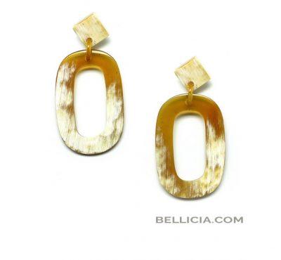 Buffelhoorn oorbellen Bellicia