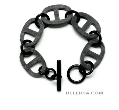 Prachtige buffelhoorn mat/ruwe armband Bellicia
