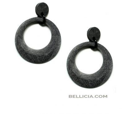 Prachtige mat/ruwe buffelhoorn oorbellen Bellicia