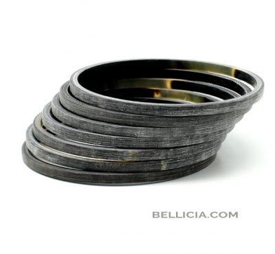 Bellicia, buffelhoorn armbanden