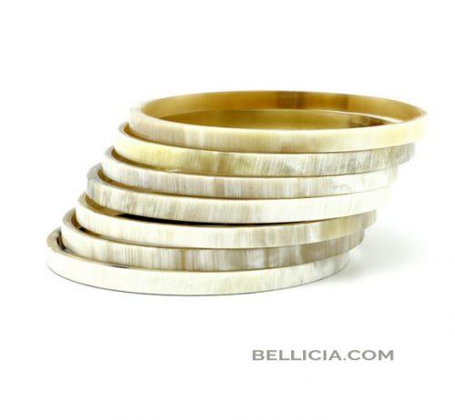 Bellicia. buffelhoorn armbanden
