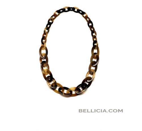 Bellicia, buffelhoorn ketting